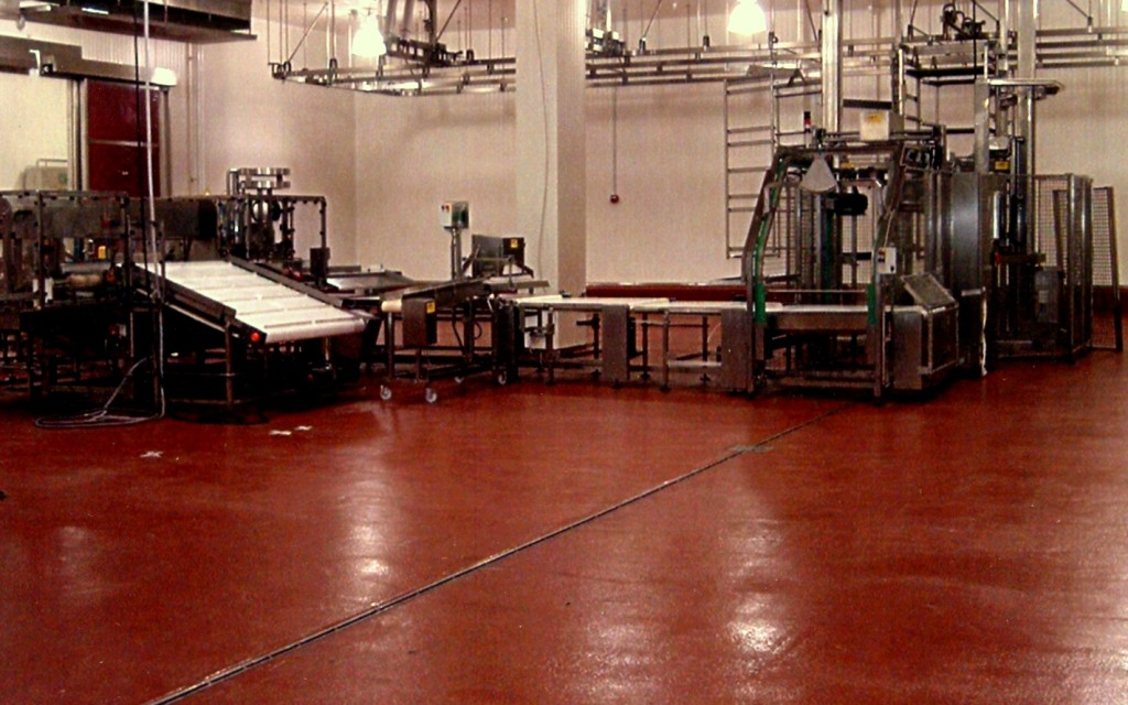 Red PlexiCrete Floor