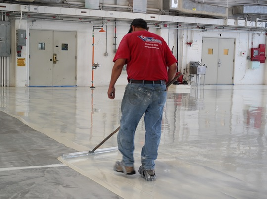 epoxy coating application